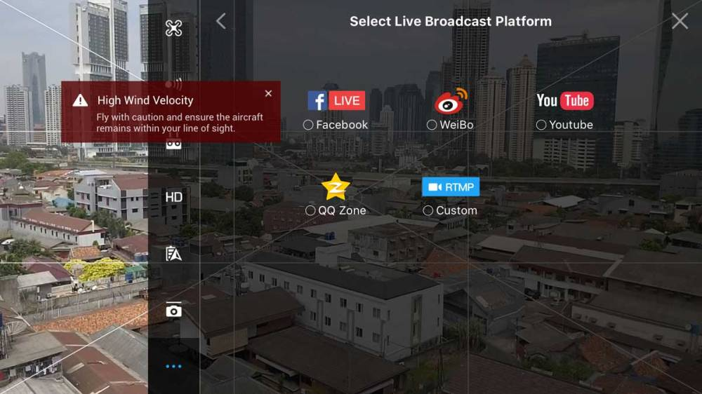 Tentukan Broadcast Platform yang akan anda gunakan.