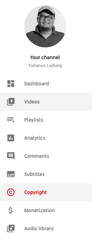 Dashboard YouTube
