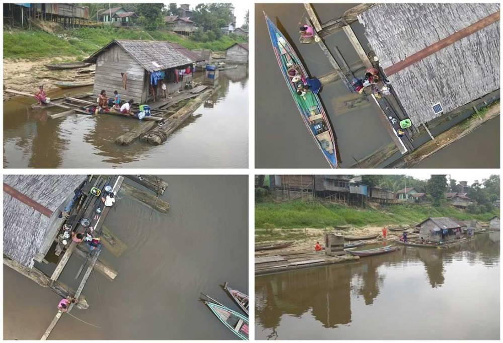 Keseharian masyarakat desa di pedalaman Kalimantan